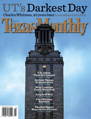 Cover of Texas Monthly August 2006
