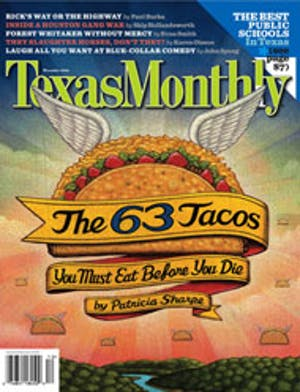 Cover of Texas Monthly December 2006