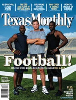 Cover of Texas Monthly September 2006
