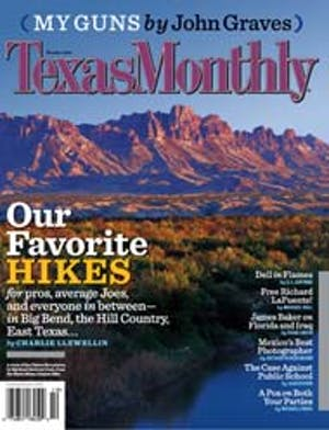 Cover of Texas Monthly October 2006