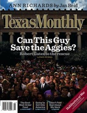 Cover of Texas Monthly November 2006