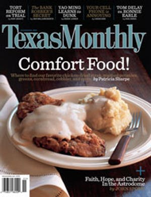 Cover of Texas Monthly November 2005