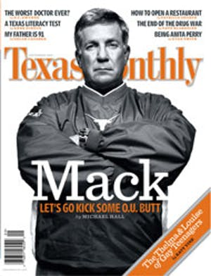 Cover of Texas Monthly September 2005