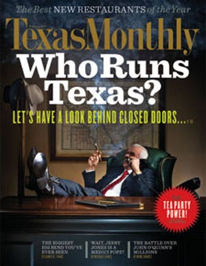 Cover of Texas Monthly February 2011