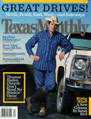 Cover of Texas Monthly April 2005