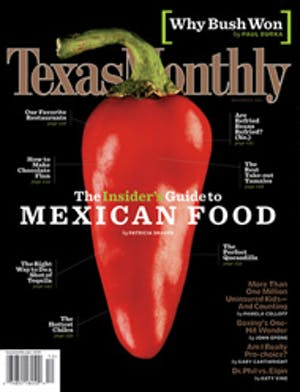 Cover of Texas Monthly December 2004