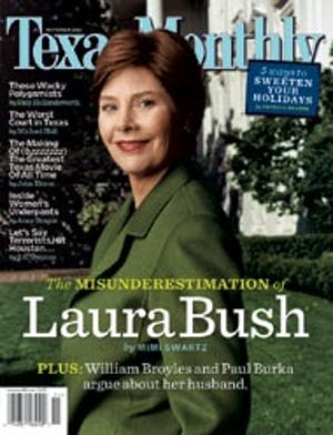 Cover of Texas Monthly November 2004