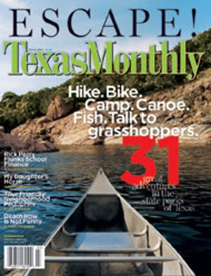 Cover of Texas Monthly March 2004