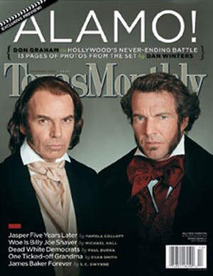 Cover of Texas Monthly December 2003
