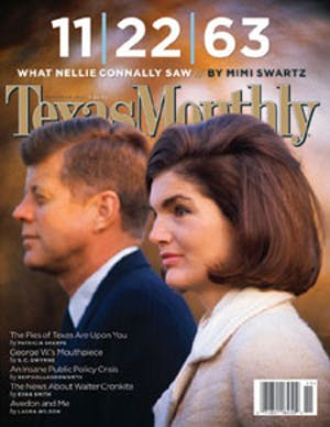 Cover of Texas Monthly November 2003