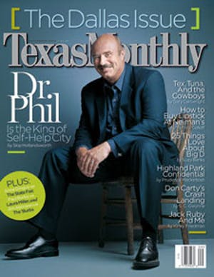 Cover of Texas Monthly September 2003