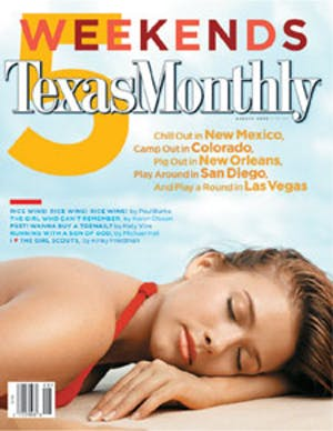 Cover of Texas Monthly August 2003