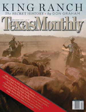 Cover of Texas Monthly December 2002