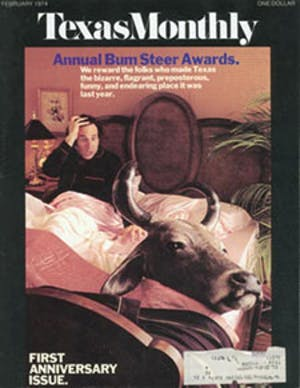 Cover of Texas Monthly February 1974