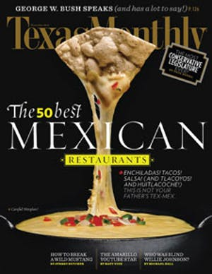 Cover of Texas Monthly December 2010