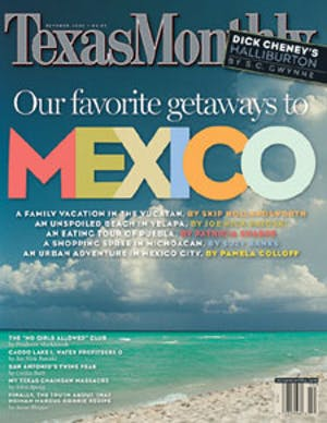 Cover of Texas Monthly October 2002
