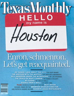 Cover of Texas Monthly September 2002