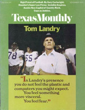 Cover of Texas Monthly November 1973
