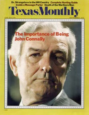 Cover of Texas Monthly September 1973