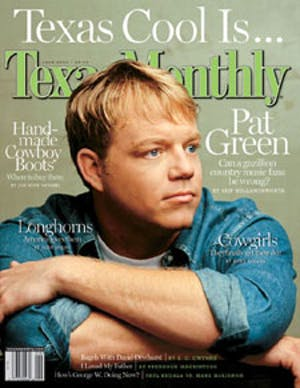 Cover of Texas Monthly June 2002