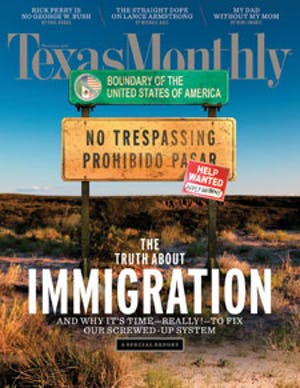 Cover of Texas Monthly November 2010