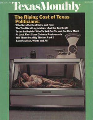 Cover of Texas Monthly July 1973
