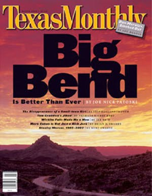 Cover of Texas Monthly March 2002