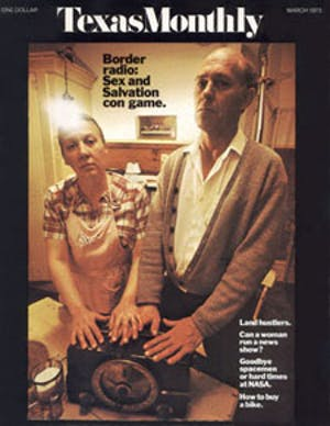 Cover of Texas Monthly March 1973