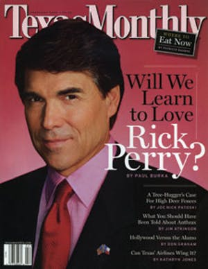 Cover of Texas Monthly February 2002