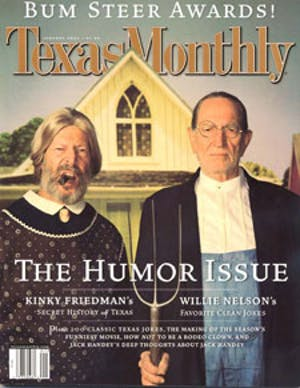 Cover of Texas Monthly January 2002