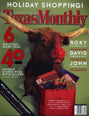 Cover of Texas Monthly December 2001