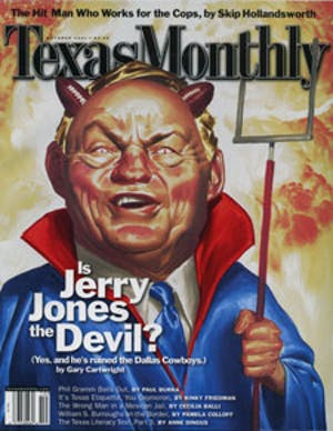 Cover of Texas Monthly October 2001