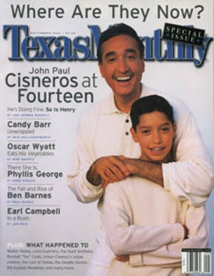 Cover of Texas Monthly September 2001