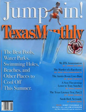 Cover of Texas Monthly June 2001