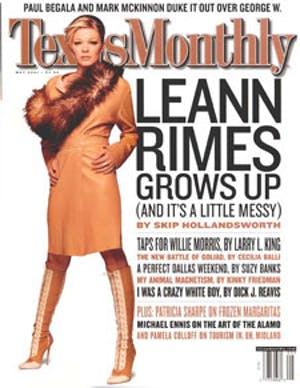 Cover of Texas Monthly May 2001
