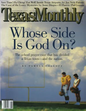 Cover of Texas Monthly November 2000