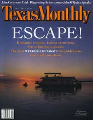 Cover of Texas Monthly June 2000