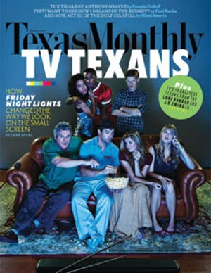 Cover of Texas Monthly October 2010