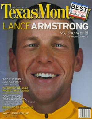 Cover of Texas Monthly July 2001