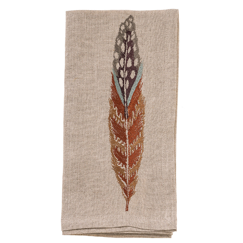 Fowl Feather Dinner Napkin