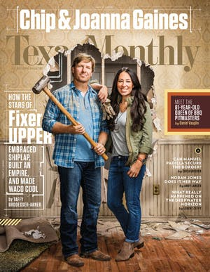 Cover of Texas Monthly October 2016