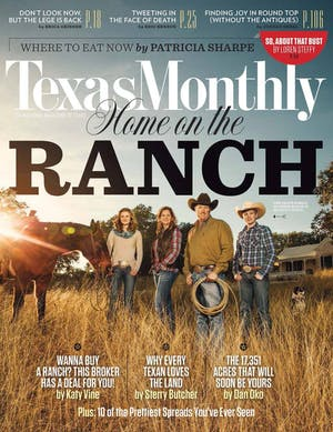 Cover of Texas Monthly February 2015