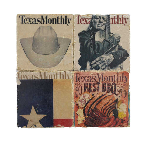 Texas Monthly Coaster Set