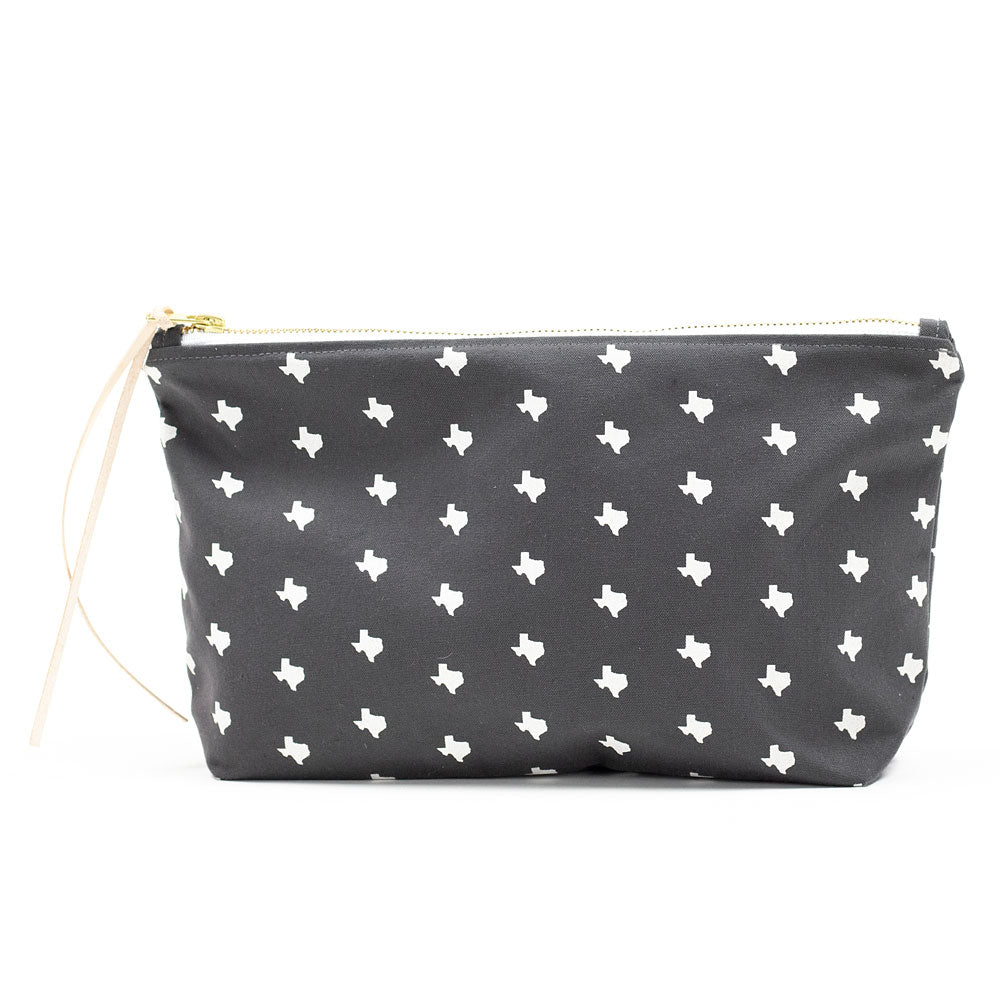Texas Print Clutch – Grey