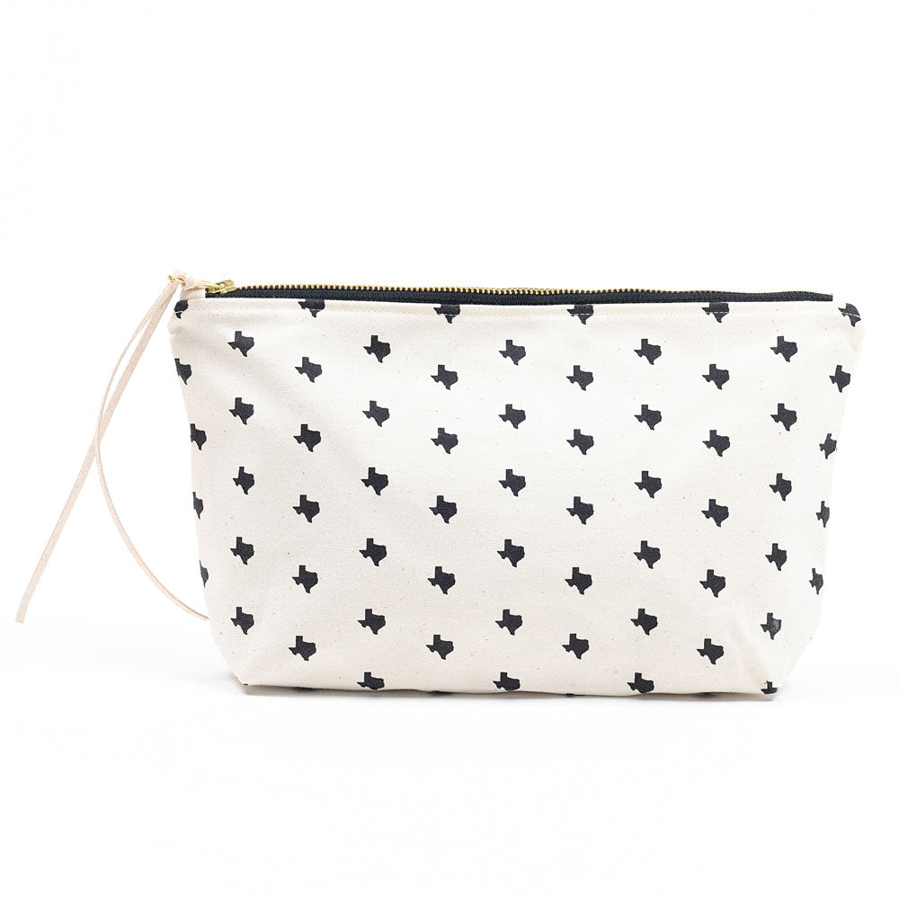 Texas Print Clutch – Natural