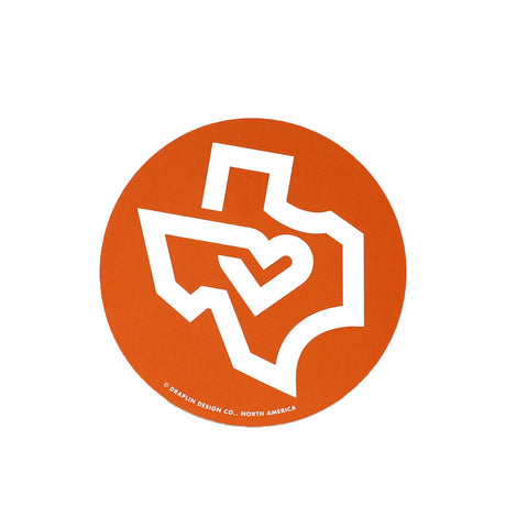 Texas Decal - Orange