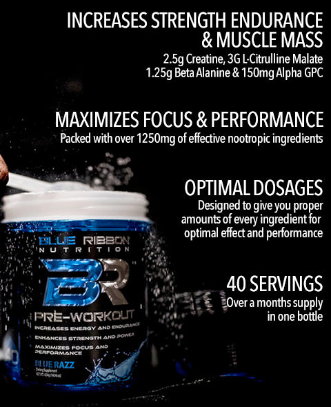 Contains creatine, citrulline, beta alanine. Increase focus and performance transparent optimal dosages. Increase strength and muscle mass.