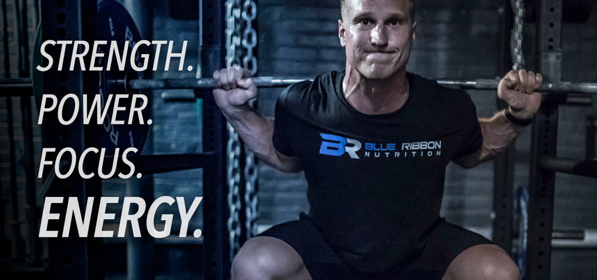 Blue Ribbon pre workout supplement increases strength, power, focus, energy. Best tasting