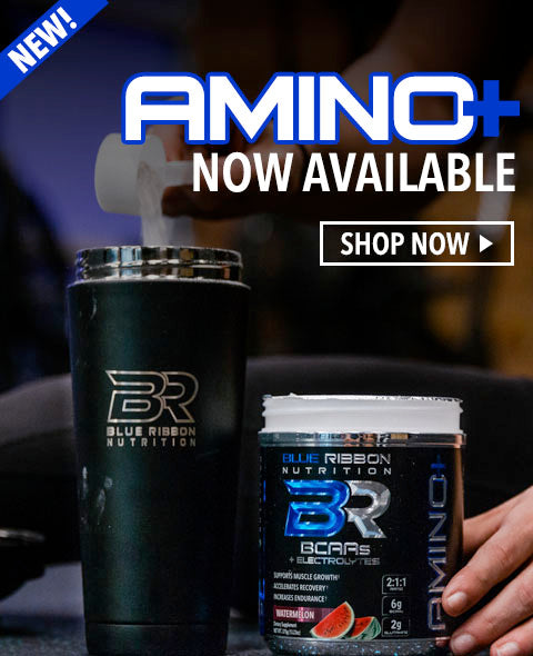 AMINO+ BCAA's product with glutamine and electrolytes to help recovery and build muscle