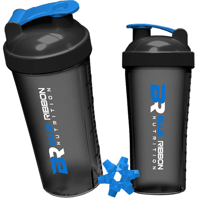 blue ribbon shaker mixer bottle great for protein powders and other supplements